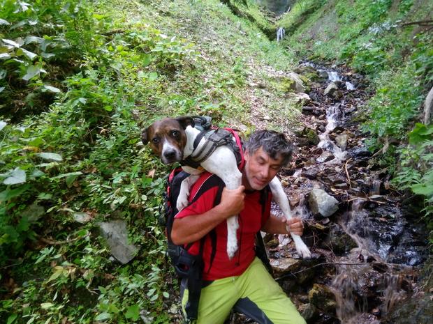 HF Manfred Guggenberger mit dem vermissten Hund