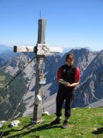 Gabi mit Gipfelbuch