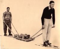 Pistendienst auf der Gerlitzen im Jahre 1950