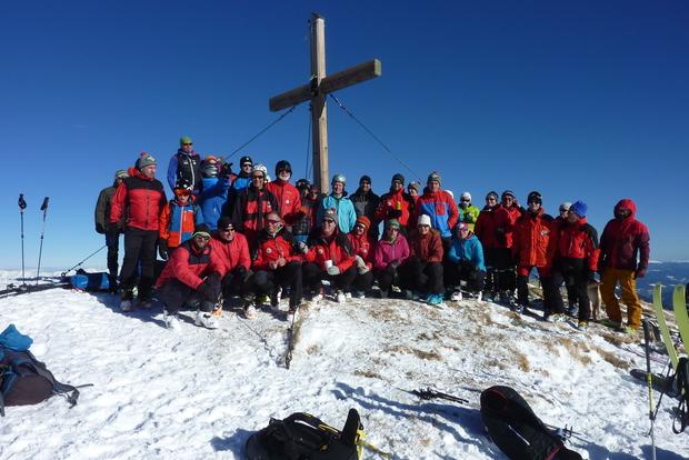 Gruppenfoto am Wintertalernock