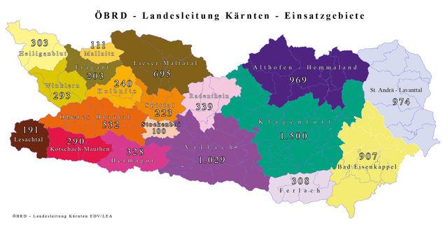 Einsatgebiete Kärnten