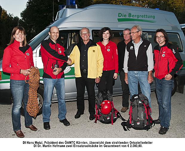 ÖAMTC Kärnten übergibt 2 Einsatzrucksäcke
