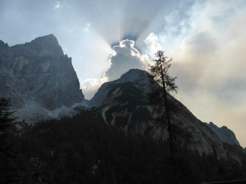 Bizarre Wolken- und Rauchformationen (Grande Nabois, Saisera)