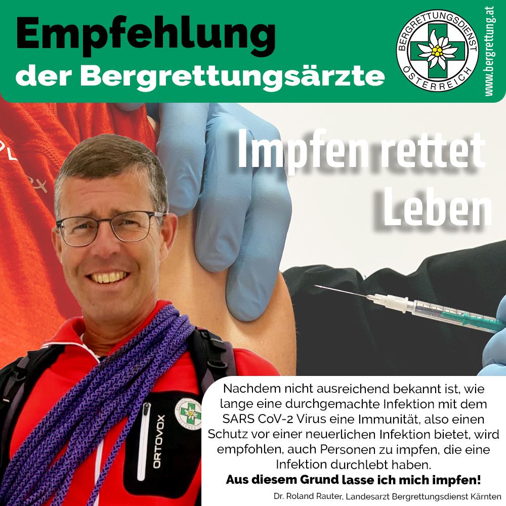Impfempfehlung von Dr. Rauter Roland